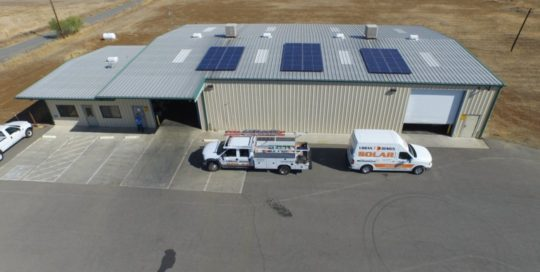 Photo of agricultural solar installation at Olive Pit