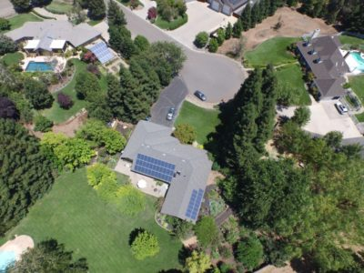 Photo of residential solar installation