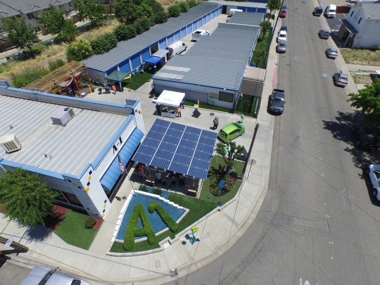 photo of commercial solar installation at A1