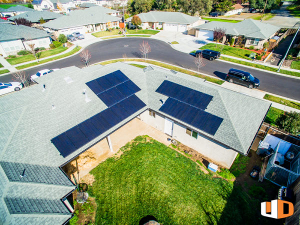 ayres roof mount residential solar panel installation