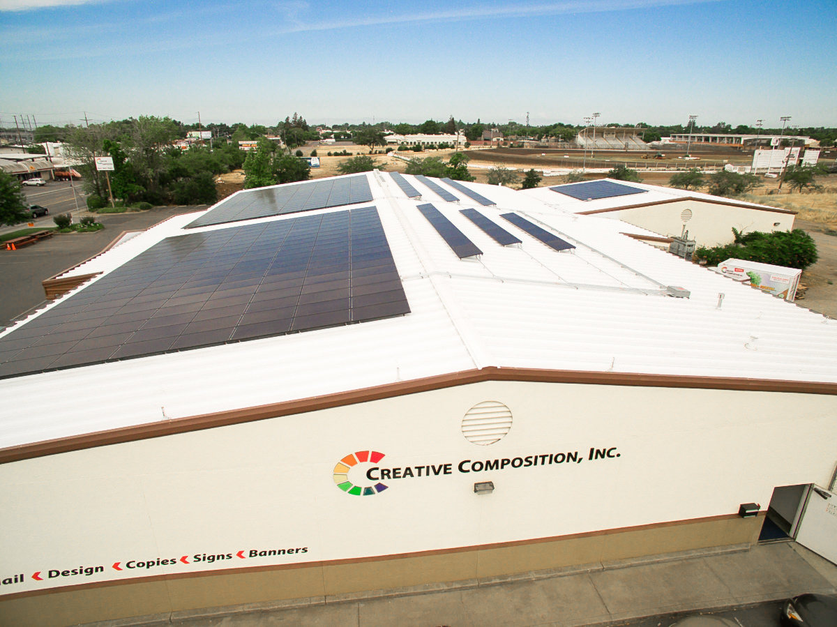 Creative Composition Commercial Solar Installation