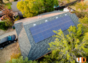 smith roof mount residential solar panel installation