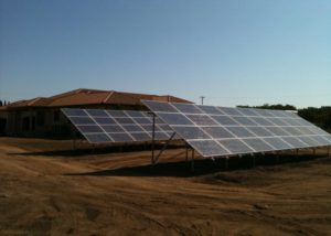 Photo of residential solar ground mount