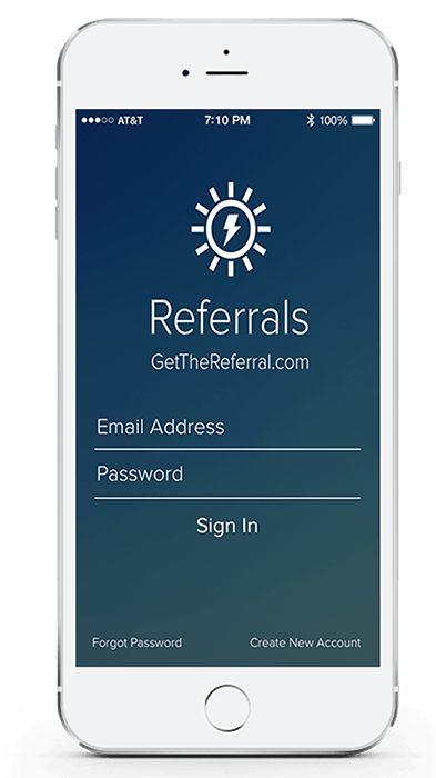 get the referral phone screen