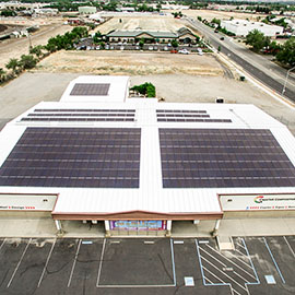 Photo of commercial solar installation pace financing